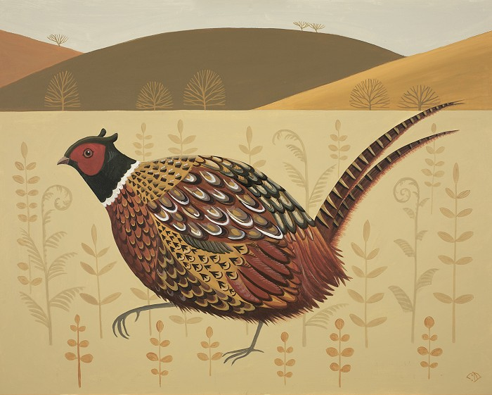 Catriona Hall pheasant painting