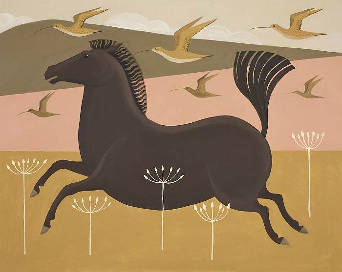 Catriona Hall horse painting