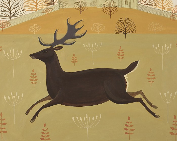 Catriona Hall stag painting
