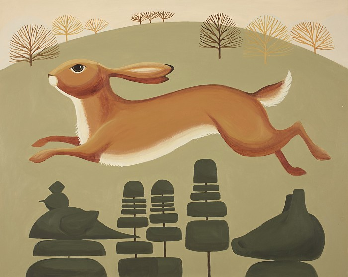 Catriona Hall hare painting
