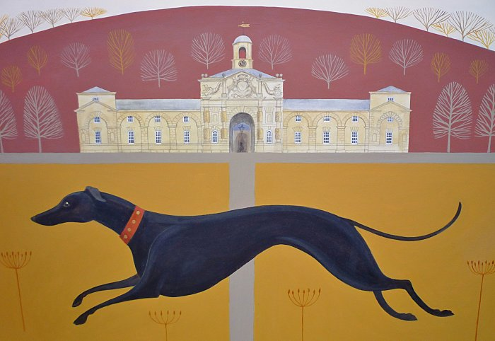 Catriona Hall dog painting
